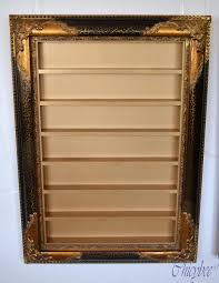 more views nail polish rack display frame gold and black ornate
