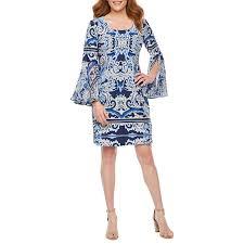 Msk Dresses Size Chart Msk Long Sheer Sleeve Damask Shift Dress Products In 2019