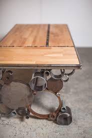 metal furniture designs. steel and wood reclaimed coffee table by pecanworkshop on etsy metal furniture designs