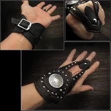wild hearts biker gear leather punk gothic biker cuff leather