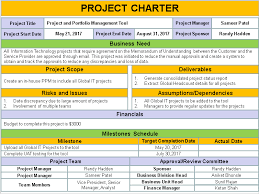 project charter sample project charter template ppt free download free project