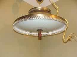 retractable lighting. vintage atomic ufo flying saucer retractable pull down ceiling light fixture lighting