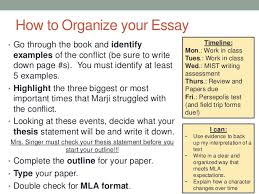 literary analysis paper persepolis how to organize your essay bull go through the book and identify examples