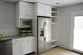 built in refrigerator cabinet. Customizing And Hanging The Microwave Cabinet Loving Here Built In Refrigerator I