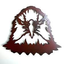 wall art bald eagle wood home decor hanging metal brass