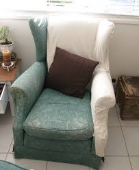 furniture striking fabric wingback chair covers with area rug and hardwood flooring for interior design