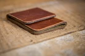 minimal front pocket wallet horween leather wallet in natural dublin