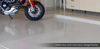 epoxy flooring garage. Oxford Grey Solid Epoxy Garage Coating Flooring O