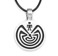 man in maze labyrinth pendant