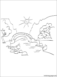 summer season coloring pages summer season coloring pages summer landscape coloring page and free printable page