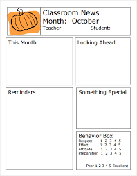 Sample Classroom Newsletter 5 Documemts In Pdf Word