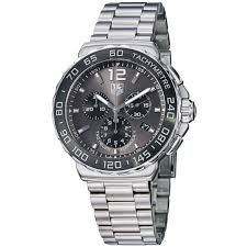 tag heuer men s formula 1 gray dial stainless steel watch
