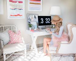 home office home office makeover emily. Home Office Makeover Emily Cute Space