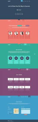 one page website template free single page website template in flat design