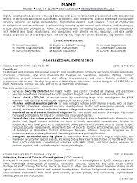 Sample Law Enforcement Resumes Resume Sample Law Enforcement