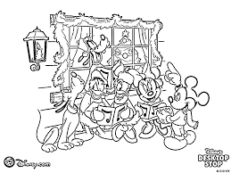 All Family of Disney Coloring Pages Christmas | Coloring pages for ...