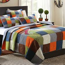 king size patchwork quilts. Plain King CHAUSUB Handmade Patchwork Quilt Set 3PCS Wash Cotton Aircondition Quilts  Bedspread Bedcover Bed Sheets King Size To V