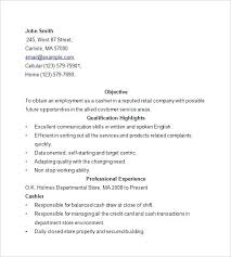 Professional Cashier Resume Content Uploads Professional Cashier ...