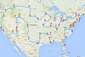 this map shows the ultimate us road trip  mental floss