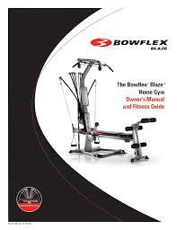 Bowflex Pr1000 Workout Chart Bowflex Blaze Workouts And Manual