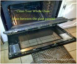 how to clean oven door glass do you the on inside of an