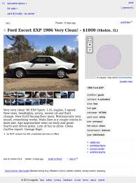 this 1986 ford escort exp is 1 800 and could be the last decent racine craigslist or go