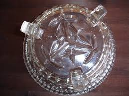 sowerby art deco vintage pressed glass 3 footed glass bowl in dublin thumbnail 2