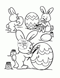 Little Easter Bunnies Coloring Page For