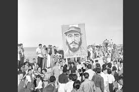 remembering the n revolution msnbc supporters of rebel leader fidel castro carry a painting of their hero as they down