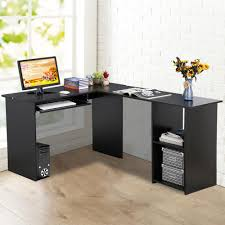 furniturewood corner computer desk home office l shaped workstation table with bookshlef previous