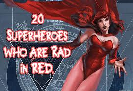 Golden age redhead superhero