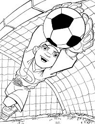 Kids N Fun Kleurplaat Voetbal Keeper