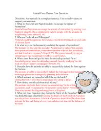 Animal Farm Ch. 4 Questions with Answers