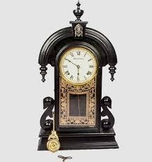 black antique old style pendulum wall