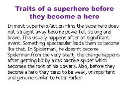 Characteristics Of A Superhero Characteristics Of A Superhero