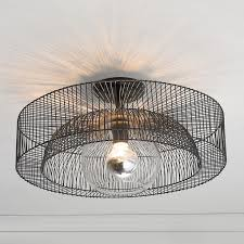 wire wheel semi flush ceiling light a simple wire spoke wheel creates this modern industrial ceiling lighting kitchen contemporary pinterest lamps transparent