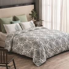 a1 home collections trellis wrinkle resistant reversible print 100 organic cotton green king duvet cover