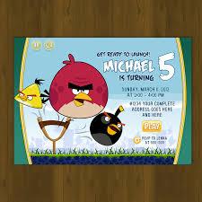 Angry Birds Birthday Invitation Card Diy Splashbox Printables