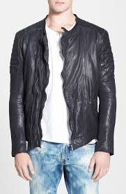nu jeans perry black leather jacket scotch soda perforated leather biker jacket