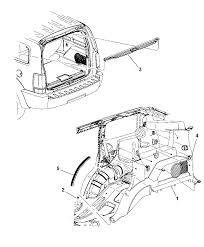 2009 dodge nitro quarter trim panel diagram i2221886