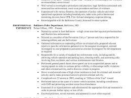 Sample Resume Police Officer Resume Cv Cover Letter