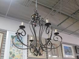 black wrought iron chandelier