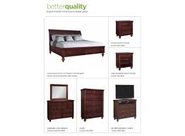 Madison Bedroom Furniture Madison Platform Storage Bedroom Set Rich Cherry Finish Queen