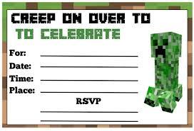 Party Invitations Minecraft Party Invitations Free
