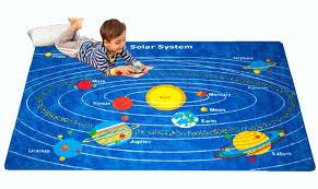 kids rug solar system 5 x 7 children learning carpet 59 x 82 com