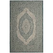 safavieh courtyard collection medallion indoor outdoor area rug 5 3 x7