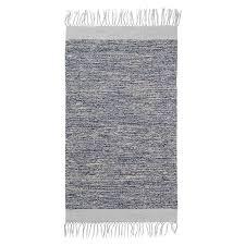 ferm living melange bathroom rug blue grey
