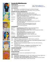 Art Teacher Resume Template Example Art Teacher Resume Art Teacher
