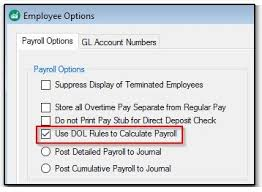 Using Dol Rules To Calculate Payroll Das