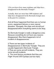 objective responsibility according to piaget the assignment of  2 pages do you know how many airplanes and ships have disappeared in the bermuda triangle